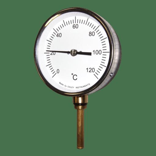 Stewart-Buchanan Coley HVAC Temperature Gauge, 100mm Dial