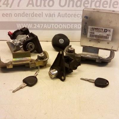16202279 GE ECU Startset Met Alle Sloten En 2 Sleutels Opel Corsa B X14SZ Automaat