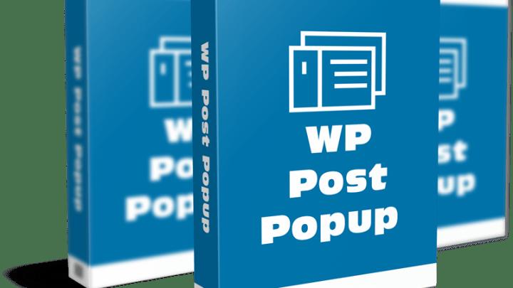 Free WordPress Plugin – Post Popup