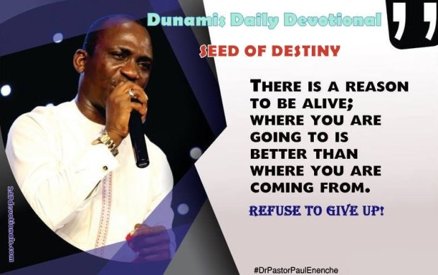 Seed Of Destiny Devotional 1st May 2018
