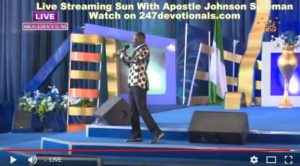 Johnson Suleman Live streaming