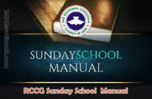 RCCG Sunday School TEACHER's Manual 1st April 2018