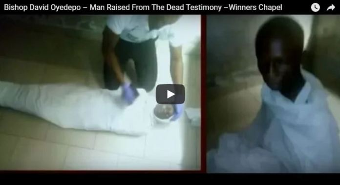 The man rasied to life by oyedepo