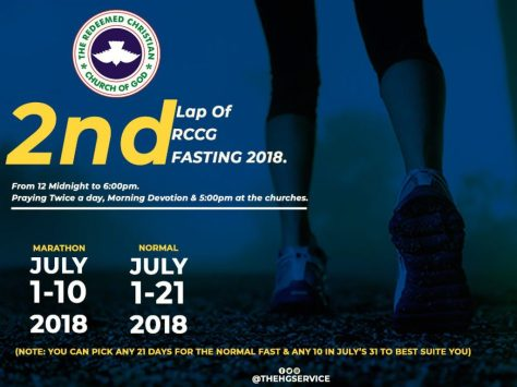 rccg July Fasting Prayer Points