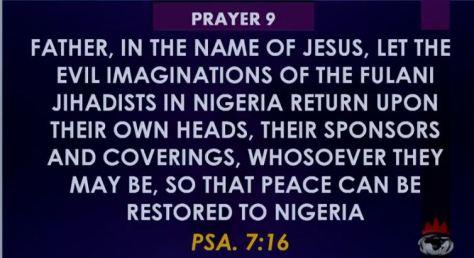Prayer 09 Against Fulani Heards Men