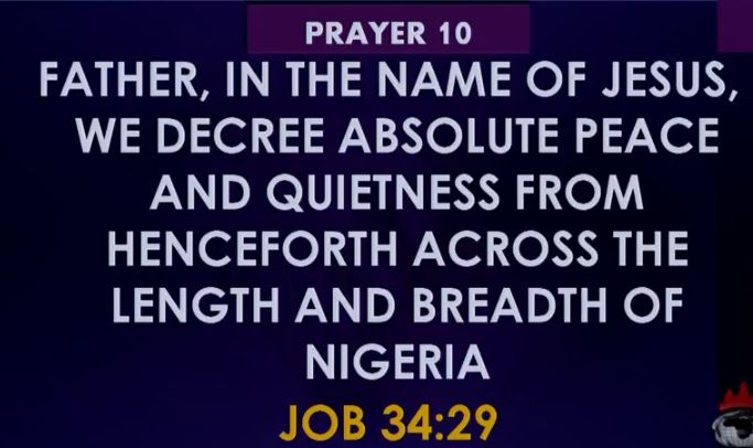 Prayer 10 for Recovery of peace