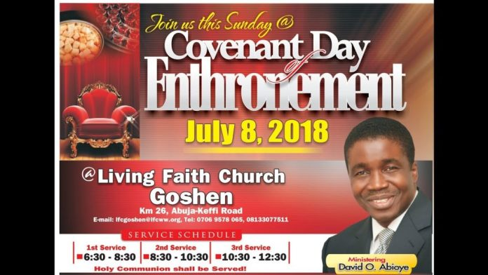Winners Church Covenant Day of Enthronement July 8, 2018