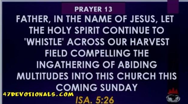 Winners Church Prayer points