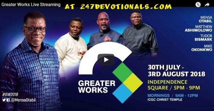 Live Stream Greater Works Conference 2018