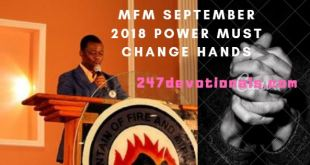 mfm September 2018 Power Must change Hands prayer guide