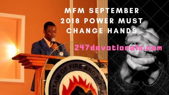 mfm September 2018 Power Must change Hands prayer guide