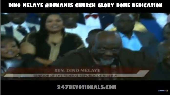 Dino Melaye at Glory Dome Dedication