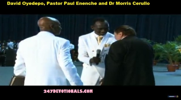 Dr Morris Cerullo Oyedepo and Oyedepo Glory Dome Alter