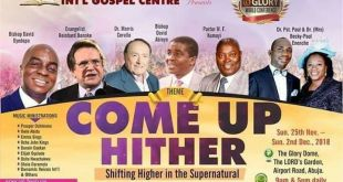 Dunamis Church Dedication of Glory Dome on Nov 24th in Abuja