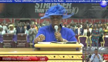 Folu Adeboye Prayer for Nigeria at Novenmber Holy Ghost Service