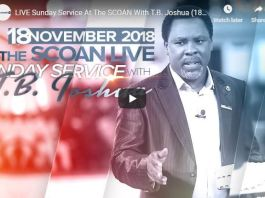 LIVE Sunday Service At The SCOAN With T B Joshua 18 November