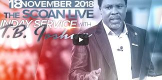 LIVE Sunday Service At The SCOAN With T B Joshua 18 November