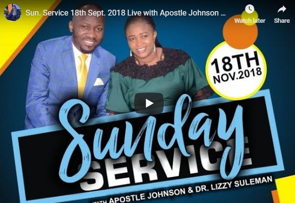 Live Service 18th Sept 2018 Live with Apostle Johnson Suleman