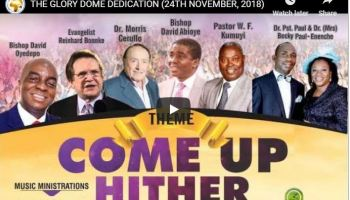Live Streaming THE GLORY DOME DEDICATION 24TH NOVEMBER 2018