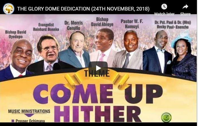 Live Streaming THE GLORY DOME DEDICATION 24TH NOVEMBER 2018
