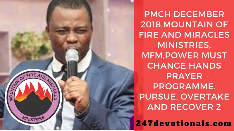 Power Must Change Hands Prayer Programme December 2018 MFM Church