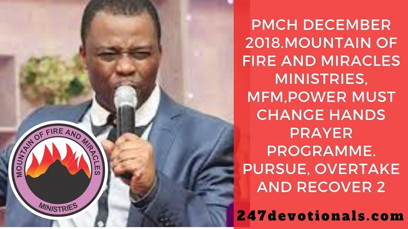 Power Must Change Hands Prayer Programme December 2018 MFM Church