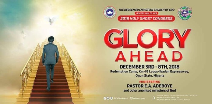 Prog RCCG 2018 December Holy Ghost Congress time