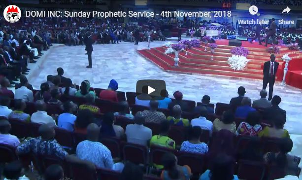 Stream Live Winners Church Sunday Prophetic Service 4th November 2018