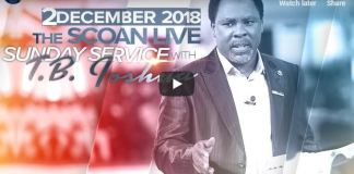 LIVE Sunday Service At The SCOAN With T.B. Joshua