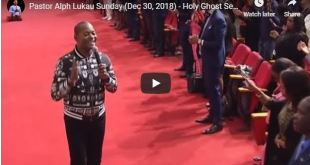 Pastor Alph Lukau Sunday (Dec 30, 2018)