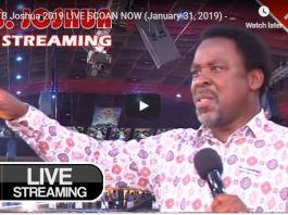 TB Joshua 2019 LIVE SCOAN NOW (January 31 2019)