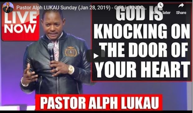 Pastor Alph LUKAU Live Moday (Jan 28, 2019)