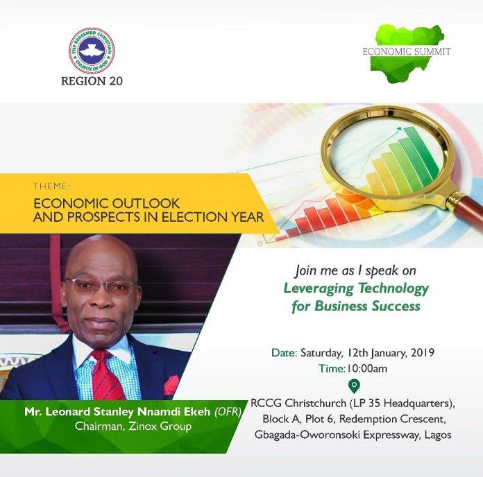 rccg 2019 economic summit
