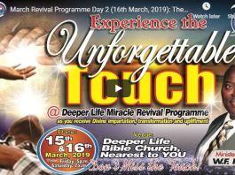 WF Kumuyi Deeper Life Church 2019