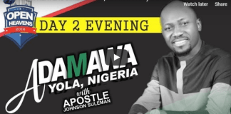 JIMETA YOLA ADAMAWA Day 2 Evening With Apostle Johnson Suleman