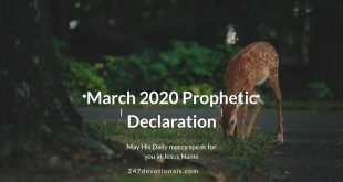 RCCG March 1 2020 Prophetic Declaration
