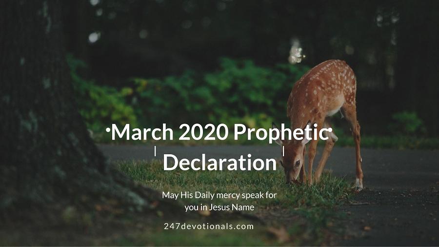 RCCG March 1 2020 Prophetic Declaration