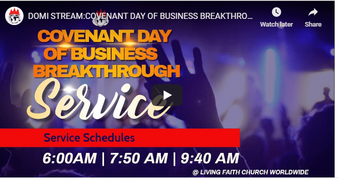 David Oyedepo COVENANT DAY OF BUSINESS BREAKTHROUGHS