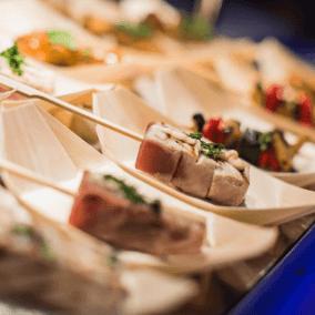 Catering bedrijfsfeest,verse producten