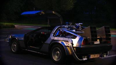 Back to the Future DeLorean huren in Amsterdam Back