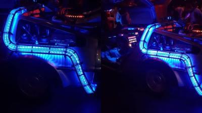Back to the Future DeLorean huren in Amsterdam Ledverlichting