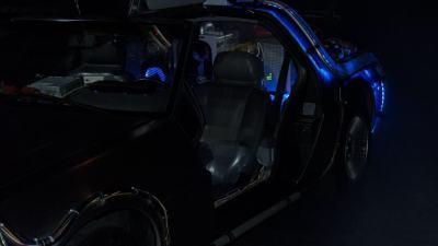 Back to the Future DeLorean bestuurders zijde