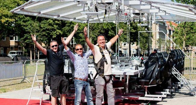 Bedrijfsuitje Amsterdam, Utrecht, Den Haag, Rotterdam - Dinner in the sky, enthousiast