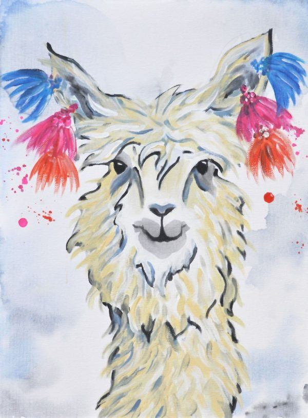 Schilder workshop organiseren als bedrijfsuitje of teambuilding-Designkeuze-Tibet-Alpaca