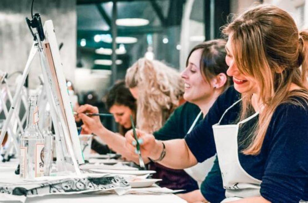 Schilder workshop organiseren als bedrijfsuitje of teambuilding.10