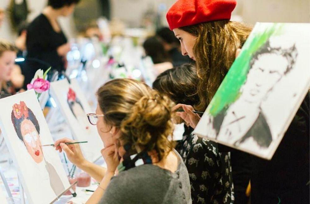 Schilder workshop organiseren als bedrijfsuitje of teambuilding.11