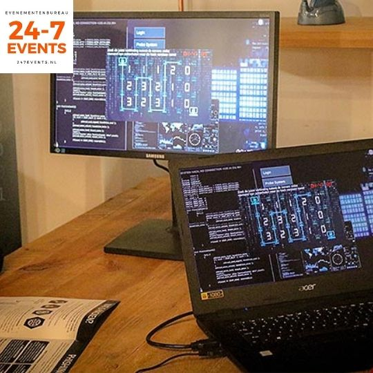 Online teamuitje Escape the Firm online escape room hack game teamuitjes coronaproof op afstand live 2