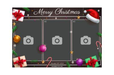 Bedrijfsfeest, Personeelsfeest, Kerst, Fotobooth huren, fotocollage, kadootjes en zuurstokken 3