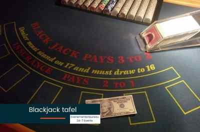 Blackjack tafel huren voor een Las Vegas bedrijfsfeest met thema