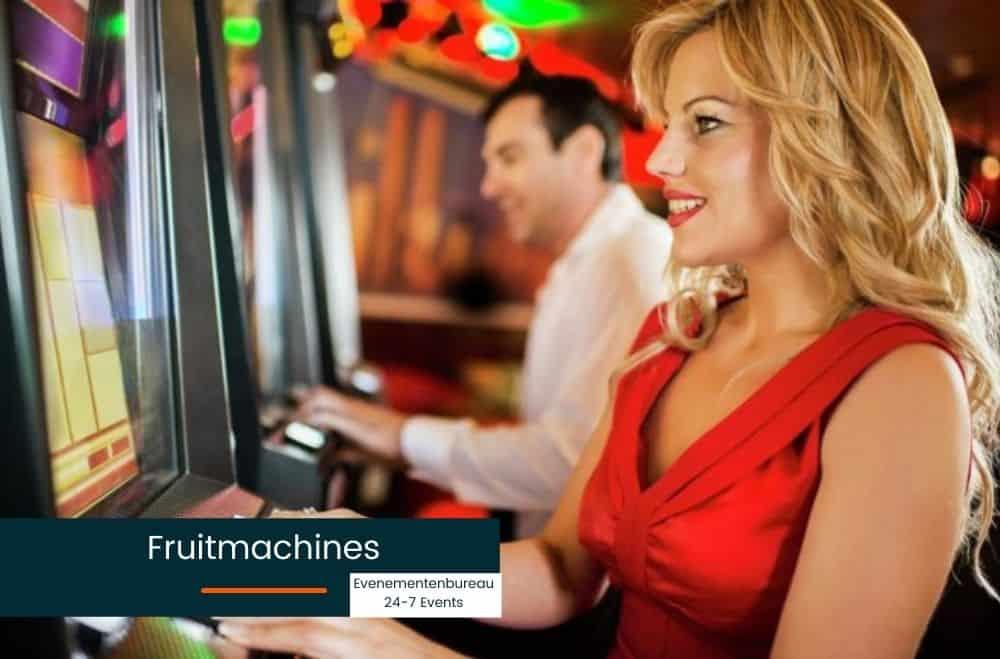 Fruitmachine huren voor een bedrijfsfeest in het thema Las Vegas